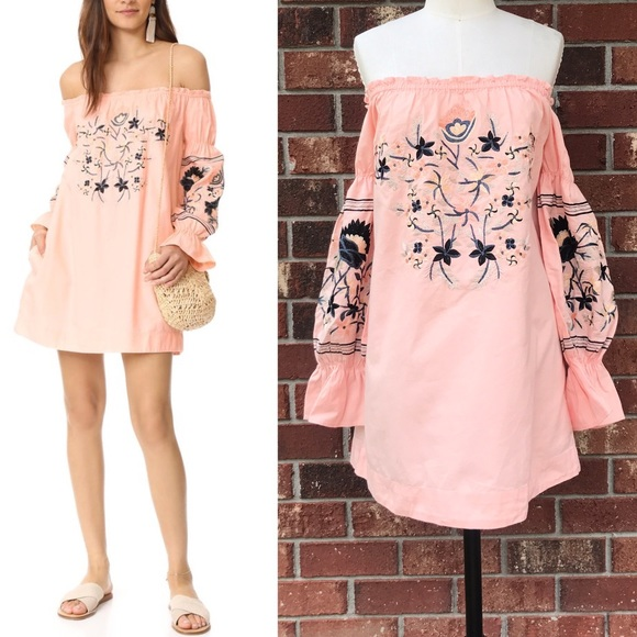 24d685769122c Free People Dresses & Skirts - FREE PEOPLE Fleur Du Jour Mini Dress- Pink